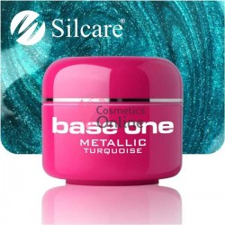 Gel UV Base One Silcare metalic turcoaz 5 ml